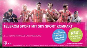 Telekom Sport ab November 2017 für Telekomkunden 6 Monate inklusiv!